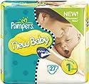 Pampers Windeln New Baby Gr.1 Newborn 2-5 kg Tragepackung, 27 Stück