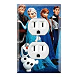 Frozen Decorative Duplex Outlet Wall Plate Cover