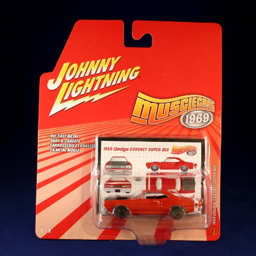 1969 DODGE CORNET SUPER BEE #2 * RED * Johnny Lightning 2006 MUSCLE CARS 1969 1:64 Scale Die Cast Vehicle