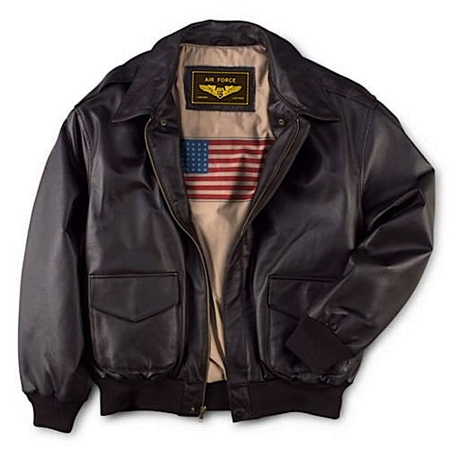 6a9d4180533 Men s Air Force A-2 Flight Leather Bomber Jacket (Apparel)