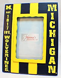 Michigan Wolverines Collegiate Licensed Wooden Photo Picture Frame 4\