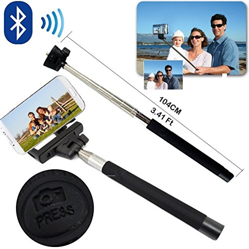 Sunnice® Adjustable Z07-5 Bluetooth Wireless Extendable Camera Shooting Monopod Handheld Mobile Phone Holder For Over Ios 4.0 / Android 3.0 Smartphone Cradle Bracket (Black)