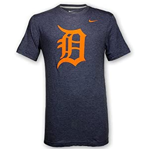 Detroit Tigers Heathered Orange D T-Shirt by Nike by Nike