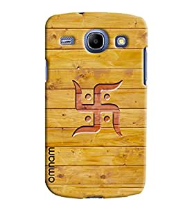 Omnam Swastik Printed on wooden background cover For Samsung Galaxy Core i8262