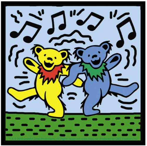 Licenses Products S-7903 Grateful Dead Dancing Bears On Sticker