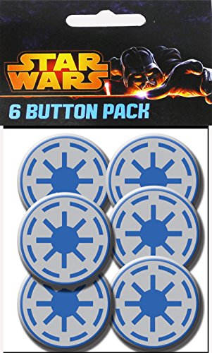 C&D Visionary Star Wars Clone Wars Clone Republic Symbol 1.5 Inch Button, (6-Piece)