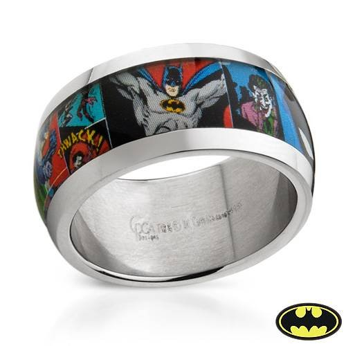 : Batman Stainless Steel Unisex Ring. Ring Size 12. Total Item weight 7.5 g.