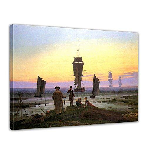 """Bilderdepot24 Leinwandbild Caspar David Friedrich - Alte Meister """"Die Lebensstufen"""" 70x50cm - fertig gerahmt, direkt vom Hersteller"""