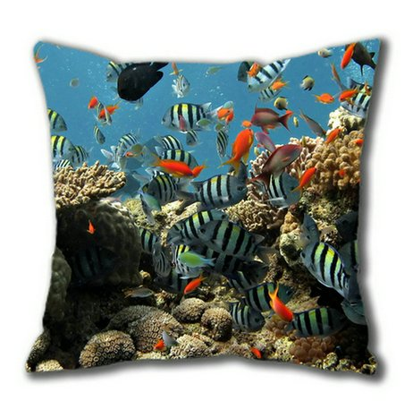 Sakuraelieechyan Coral Cotton Square Pillow Case front-249397