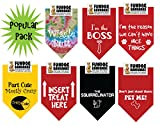 7 PACK BANDANAS - Popular Pack, One Size Fits Most for Medium to Large Dogs