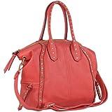 MG Collection SAMMY Large Coral Studded Shopper Hobo Tote Bag w/ Shoulder Strap