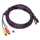 Foxnovo-5-Feet-HDMI-Male-to-3RCA-3-RCA-Video-Audio-AV-Cable