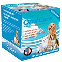 Teddy's Pride® Oral Care is a tasteless and odorless powder that you sprinkle on your pet's food once a day.