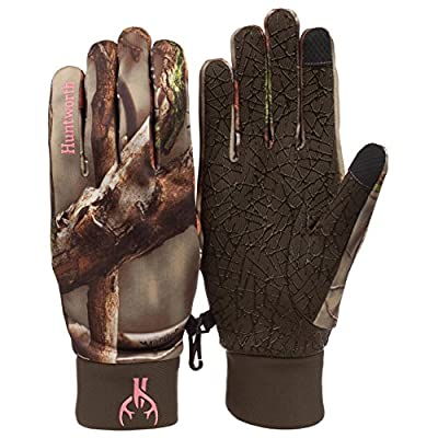 Women's Oaktree Camo Silicon Grip Fleece Touch Screen Hunting Glove 1082