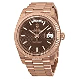 Rolex Day-Date 40 Chocolate Dial 18kt Everose Gold Automatic Mens Watch 228235CHSP Rating