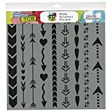 Crafters Workshop Template, 12 by 12-Inch, Arrows and Hearts