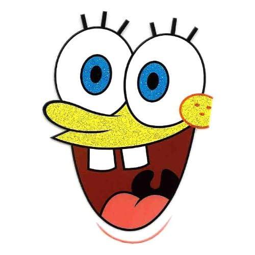 Amazon.com: Spongebob Squarepant Face large eyeballs & mouth Heat Iron