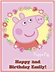 """Single Source Party Supply - Peppa Pig Edible Icing Image #1-8.0"""" x 10.5"""""""