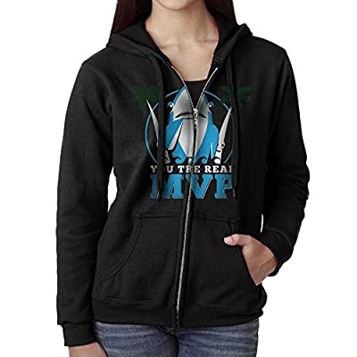 Dshfgvsl Womens Full Zip Katy Perry Left Shark Hoodie With Pouch Pocket