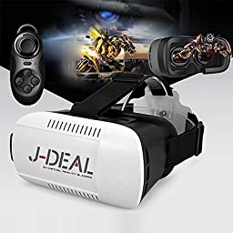 J-DEAL 3D VR Virtual Reality Headset 3D Glasses Adjust Cardboard VR BOX For 4.7~6\