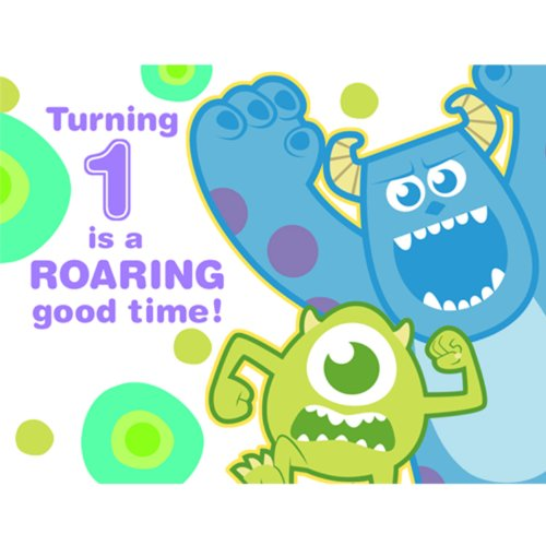 Disney Monsters, Inc. 1St Birthday Party Invitations 8 Pack front-1049405