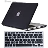 iBenzer – 2 in 1 Rubberized Black Hard Case Cover and Keyboard Cover for Macbook Pro 13 inch 13