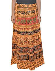 Gurukripa Shopee Women's Cotton Wrap-around Skirt (Multicolor) - B01I1DC7K8