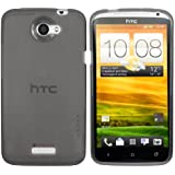 mumbi TPU Silikon Schutzhülle für HTC ONE X Hülle transparent grau