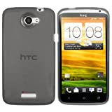 Mumbi TPU Silicone Protective Phone Case for HTC One X Transparent Grey