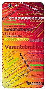 Vasantabrabha (Popular Girl Name) Name & Sign Printed All over customize & Personalized!! Protective back cover for your Smart Phone : Apple iPhone 6-Plus