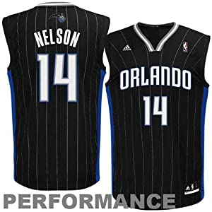NBA adidas Jameer Nelson Orlando Magic Revolution 30 Performance Jersey - Black by adidas