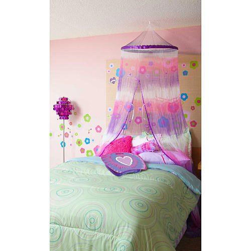 Buy Three Cheers Purple/White/Fuchsia Tie Dye Canopy