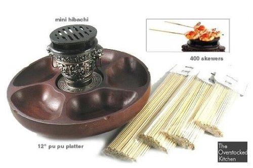 MINI HIBACHI GRILL U0026 PU PU PLATTER SET
