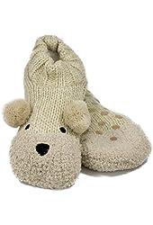 Jacques Moret Women's Cozy Critter Knitter Slipper Socks
