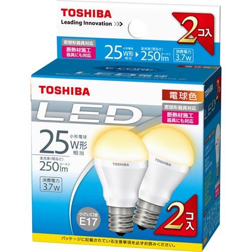 東芝LED電球 ミニクリプトン形廉価版 2P LDA4L-H-E17/S-2P