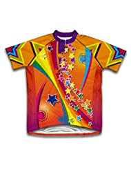 Dazzling Stars Short Sleeve Cycling Jersey for Women