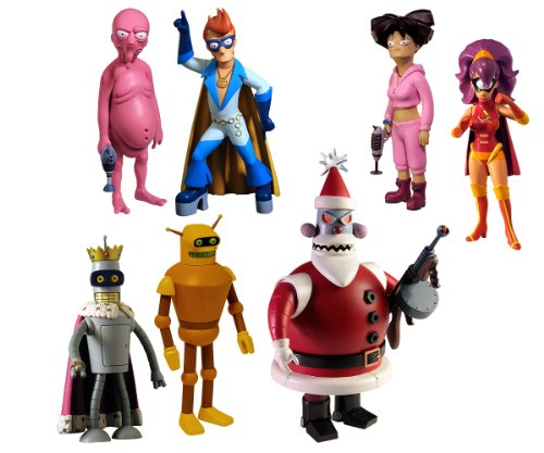 "Toynami Futurama ""Robot Santa Build-A-Bot"" Action Figure Set"