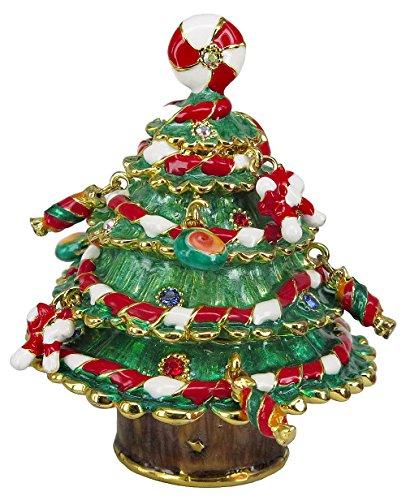 RUCINNI Christmas Tree Jeweled Trinket Box