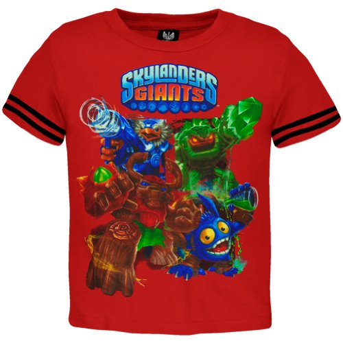 Skylanders Giants - Group Charge Juvy T-Shirt - Juvy 5/6 Red