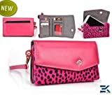 [Mink] Sony Xperia E Case | Women's Wallet Wristlet Clutch - HOT PINK ... worderful for you