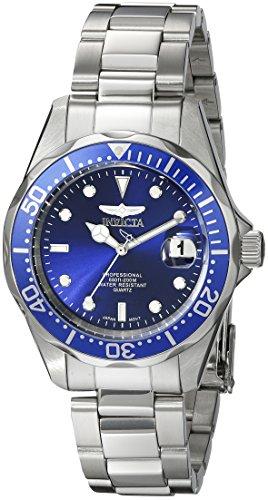 Invicta Pro Diver 9204 - Orologio da polso uomo, acciaio inox, colore: argento