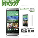 HTC One M8 Screen Protector Glass, amFilm Tempered Glass Screen Protector for HTC One M8 2014 Verizon/AT&T/Sprint (1-Pack) [Lifetime Warranty]