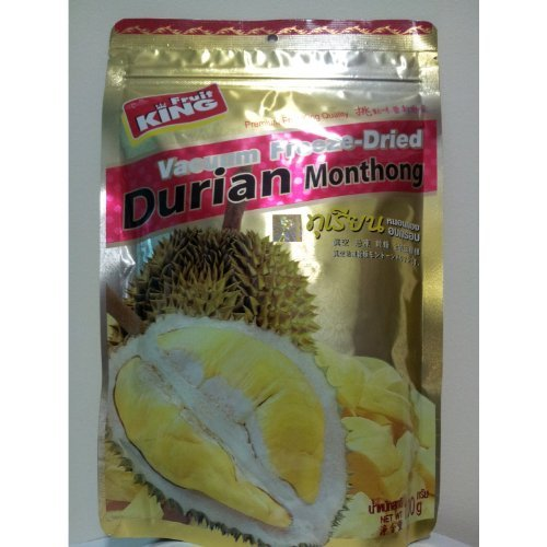 King Fruit Vacuum Freeze Dried Durian Monthong Fruit - 3.5Oz (100g) (5 Bags) (Fruit King compare prices)
