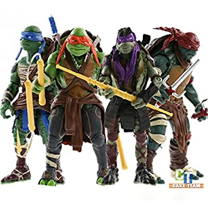 "4PCS Lot 5"" Teenage Mutant Ninja Turtles Anime Movie Action Figures Toy Set (Without original box)"