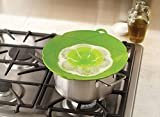 JL Future Silicone Lid for Pans Spill Stopper (10 inch, Green) Fits Openings from 8 - 9 inch