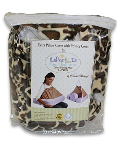 Extra Cover for San Diego Bebe TWIN Eco Nursing Pillow, Giraffe - 1