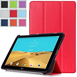 LG G Pad 2 10.1 & G Pad X 10.1 Case - HOTCOOL Ultra Slim Lightweight SmartCover Stand Case For 2015 Released LG G Pad II 10.1 & LG G Pad X 10.1 Tablet, Red