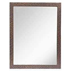 999Store dark brown fiber framed decorative wall mirror