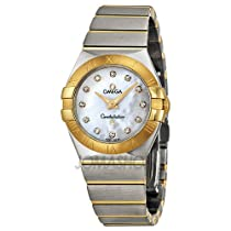 Omega Constellation Diamond Mother of Pearl Dial Yellow Gold and Stainless Steel Ladies Watch 123.20.27.60.55.002