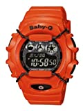 Casio BG-1006SA-4BER Baby-G Ladies Watch Quartz Digital Alarm Light Black Dial Red Resin Strap